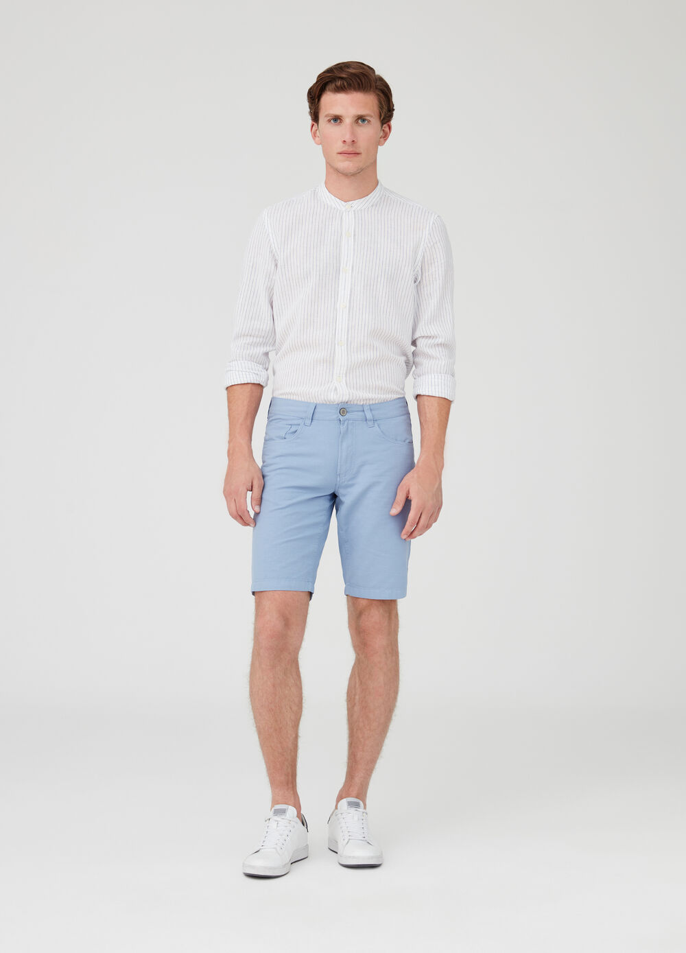 Regular-fit cotton shorts with five pockets