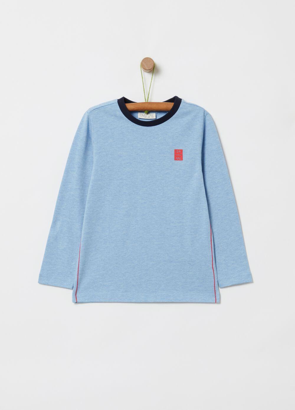 Organic cotton T-shirt with long sleeves
