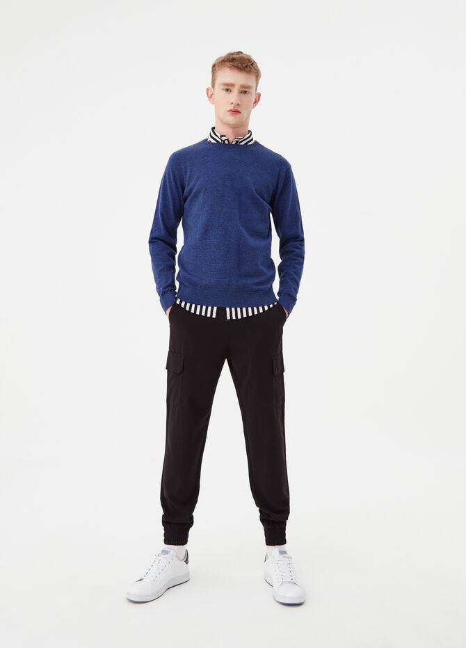 Ribbed knitted pullover