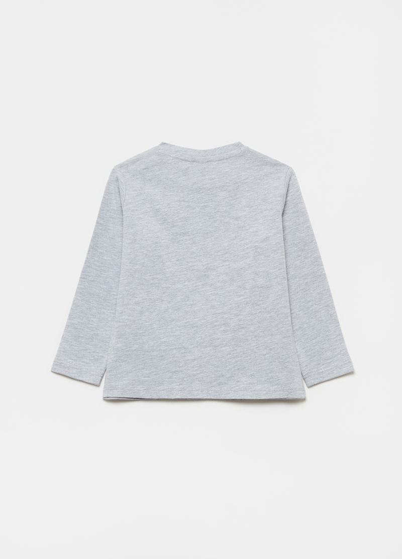 Printed T-shirt with round neck image number null