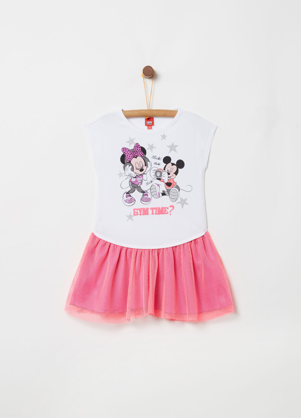 Disney Mickey Mouse dress with mesh skirt