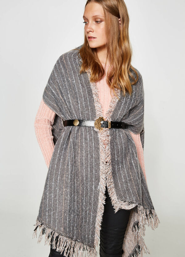 Solid colour and striped glitter scarf | OVS