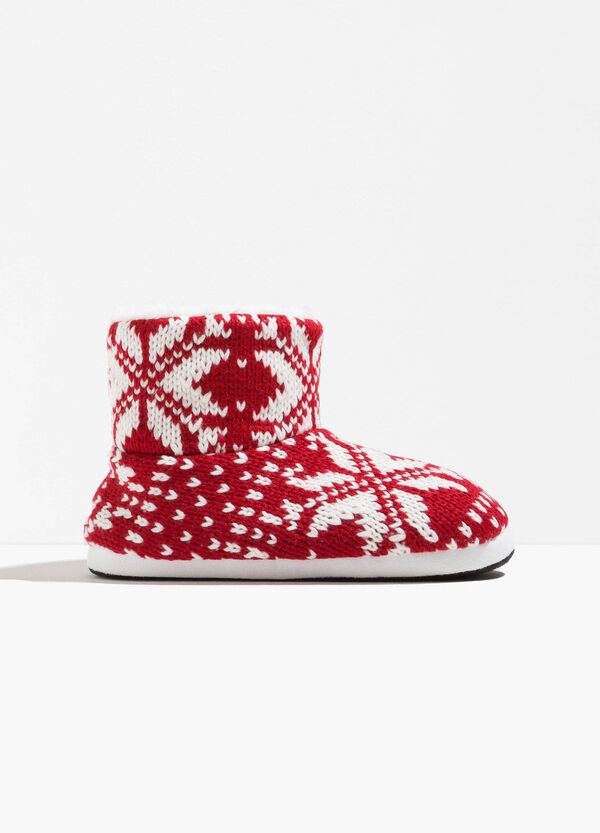 Patterned slipper boots | OVS