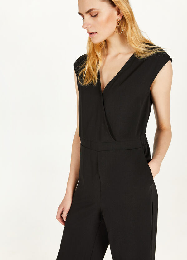 Solid colour crossover playsuit