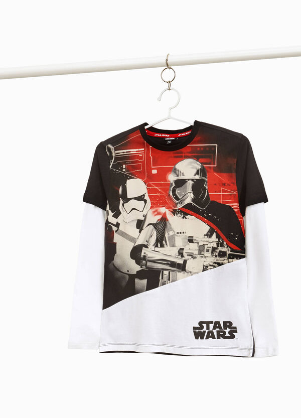 100% cotton two-tone Star Wars T-shirt
