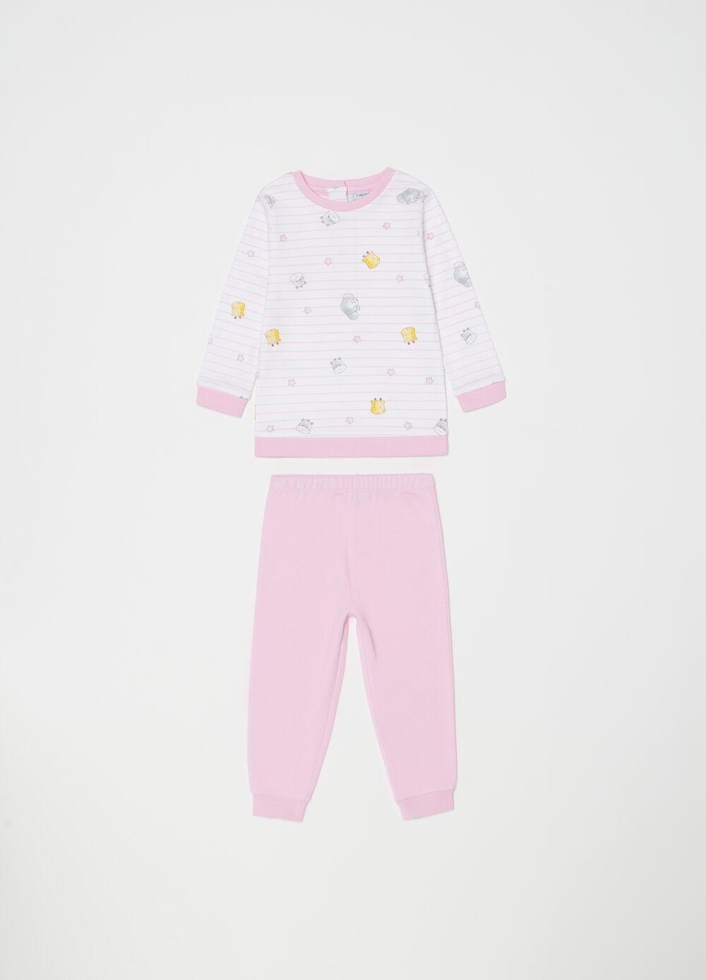 100% organic cotton pyjamas with pattern