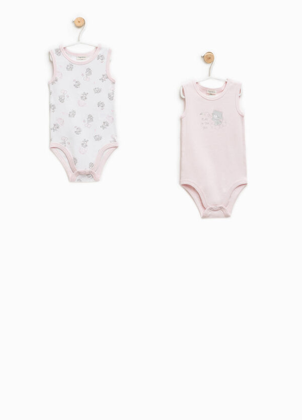 Two-pack 100% Biocotton patterned bodysuits | OVS