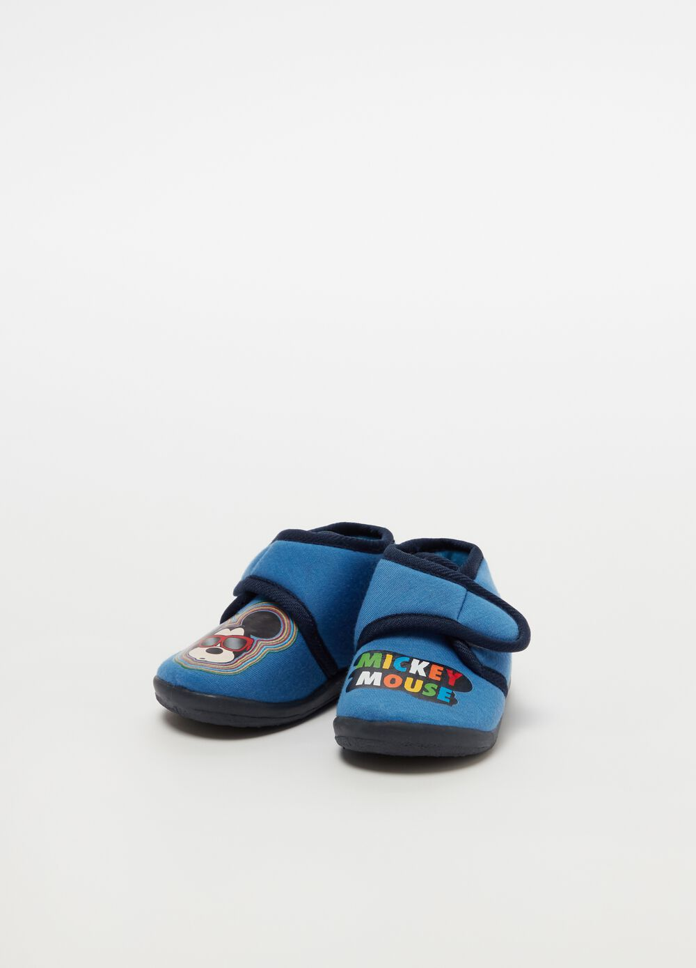 Two-tone slippers with Disney Mickey Mouse print
