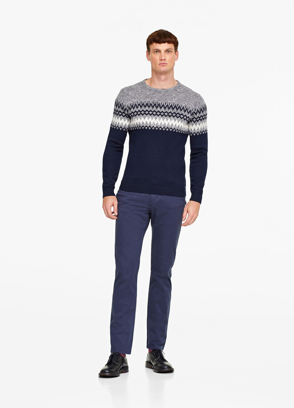 Twill regular-fit chino trousers
