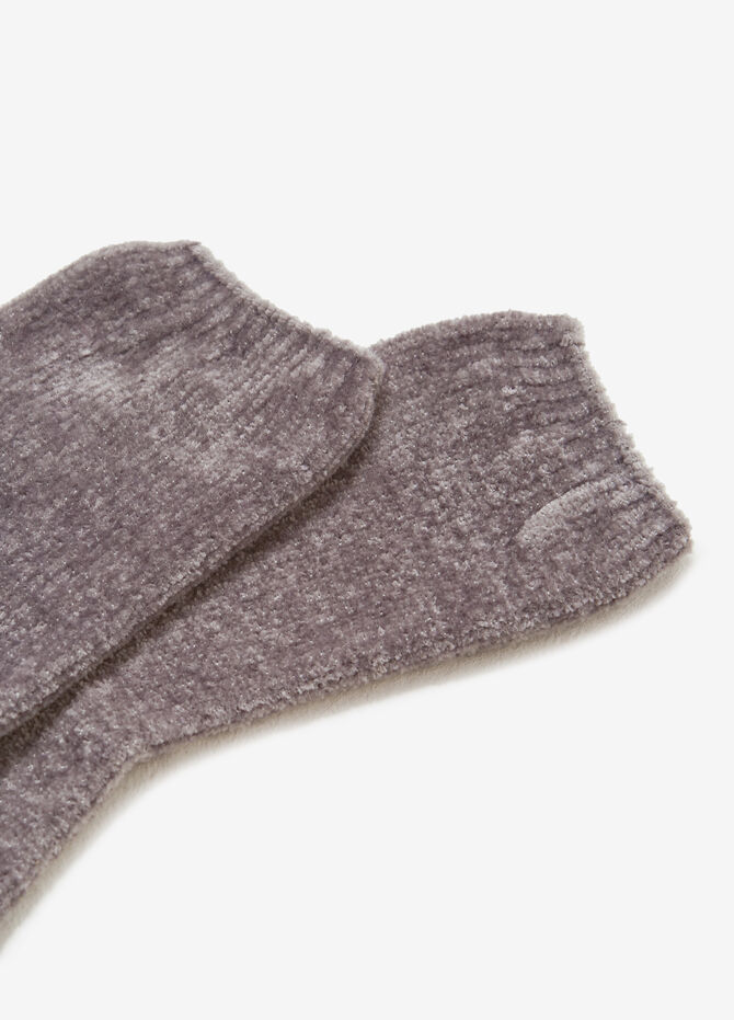 Stretch chenille short socks