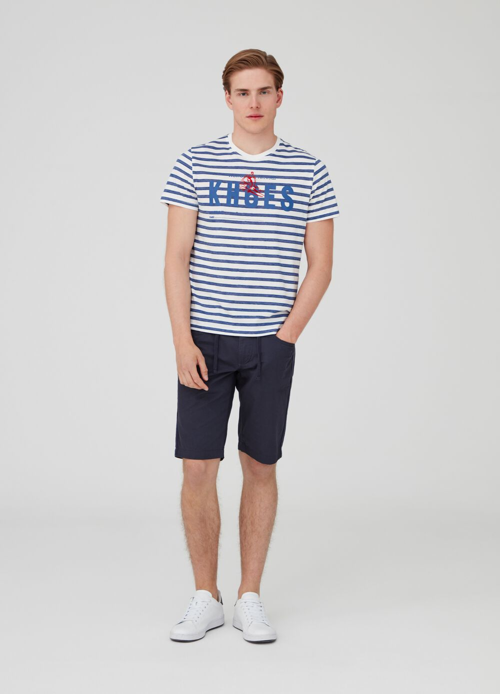 Bermuda shorts in 100% cotton with pockets