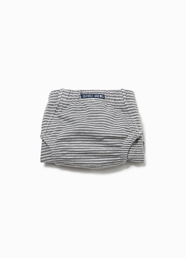 Striped organic cotton briefs with patches | OVS