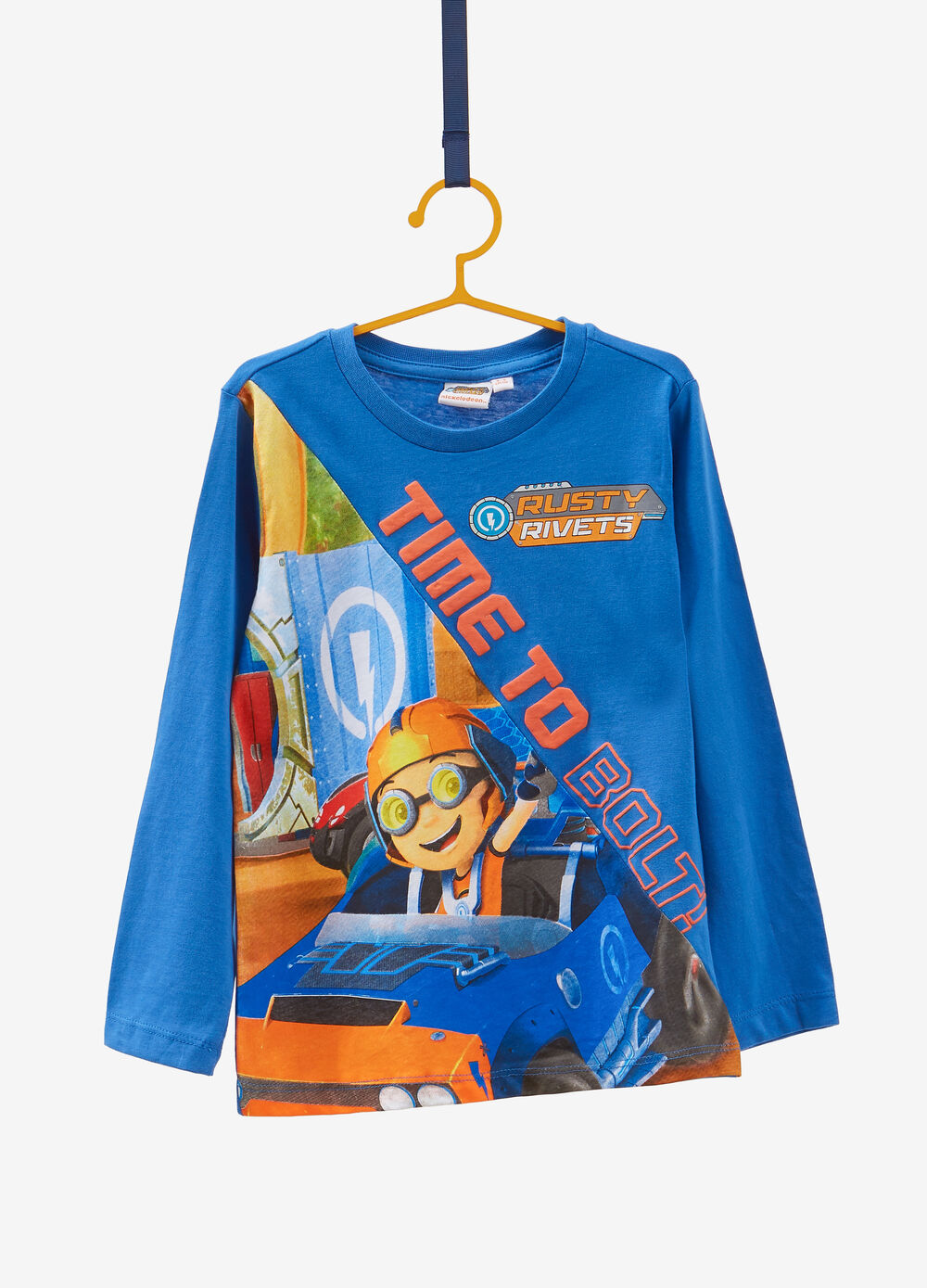 Cotton T-shirt with maxi Rusty Rivets print