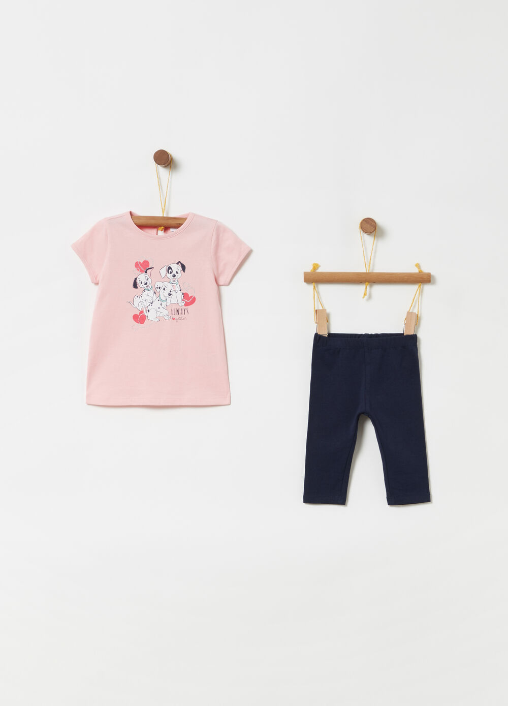Disney Baby T-shirt and leggings jogging set