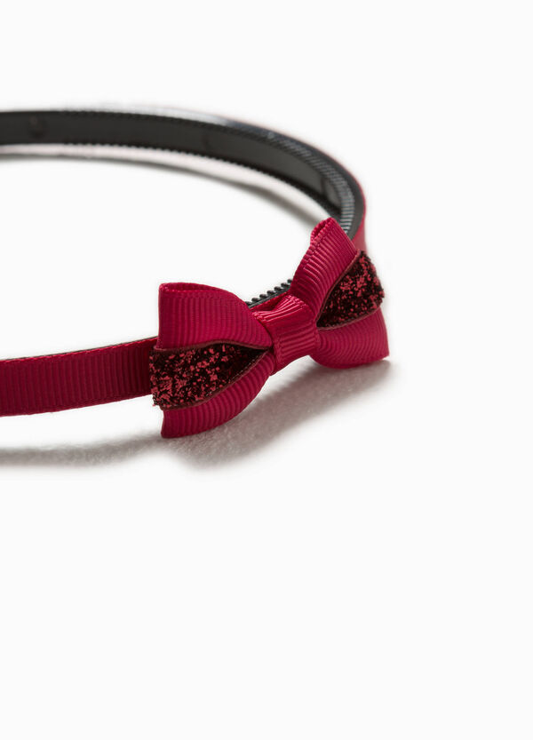 Alice band with bow