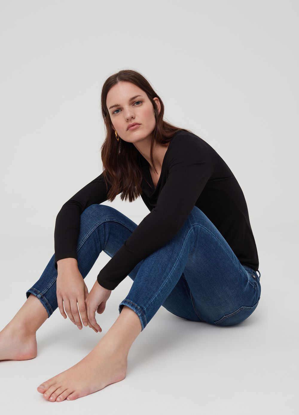 Skinny-fit jeans with five pockets