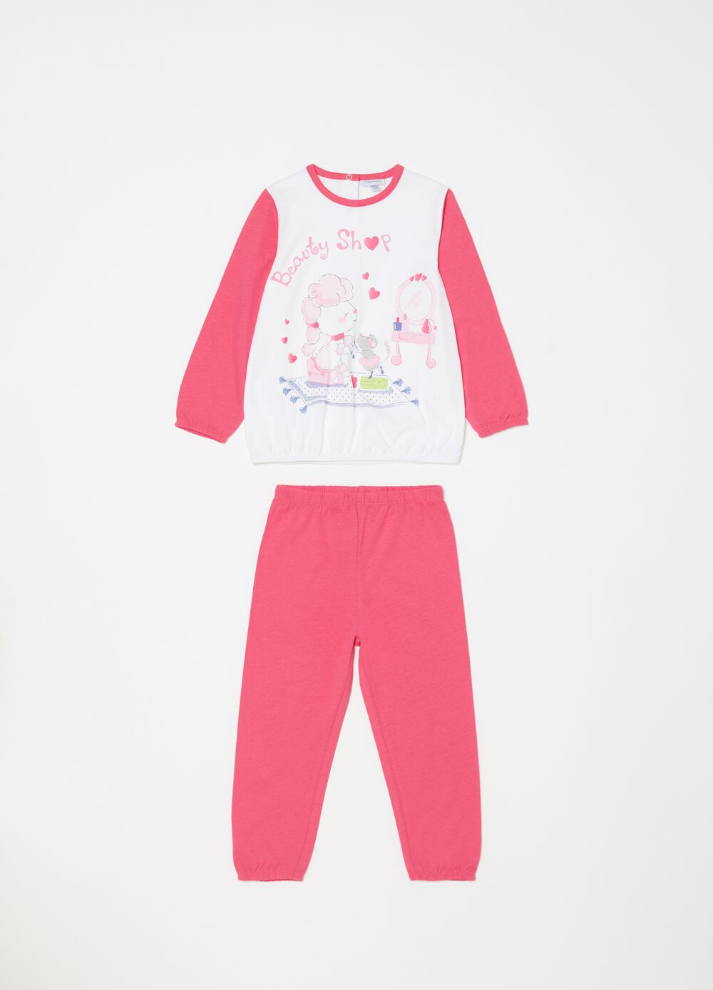 Biocotton pyjamas with sheep print