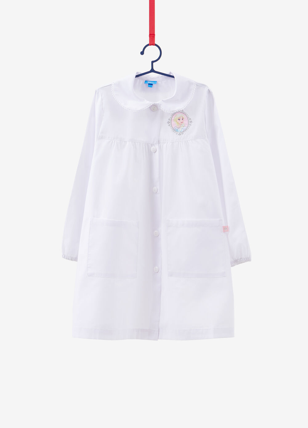 Solid colour smock with Frozen patch