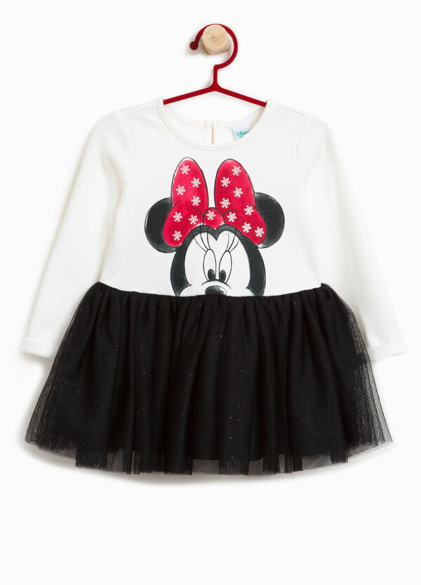 Stretch cotton dress with Minnie Mouse print | OVS