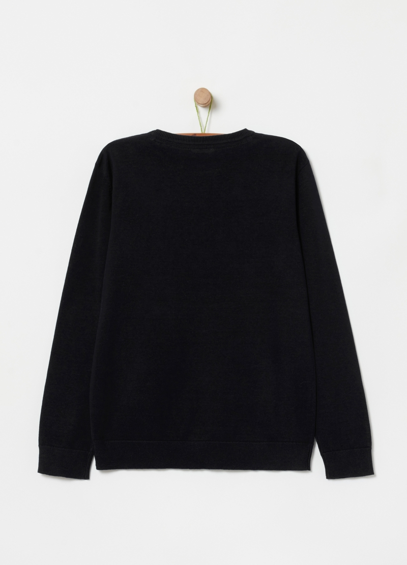 Pullover in 100% organic cotton image number null