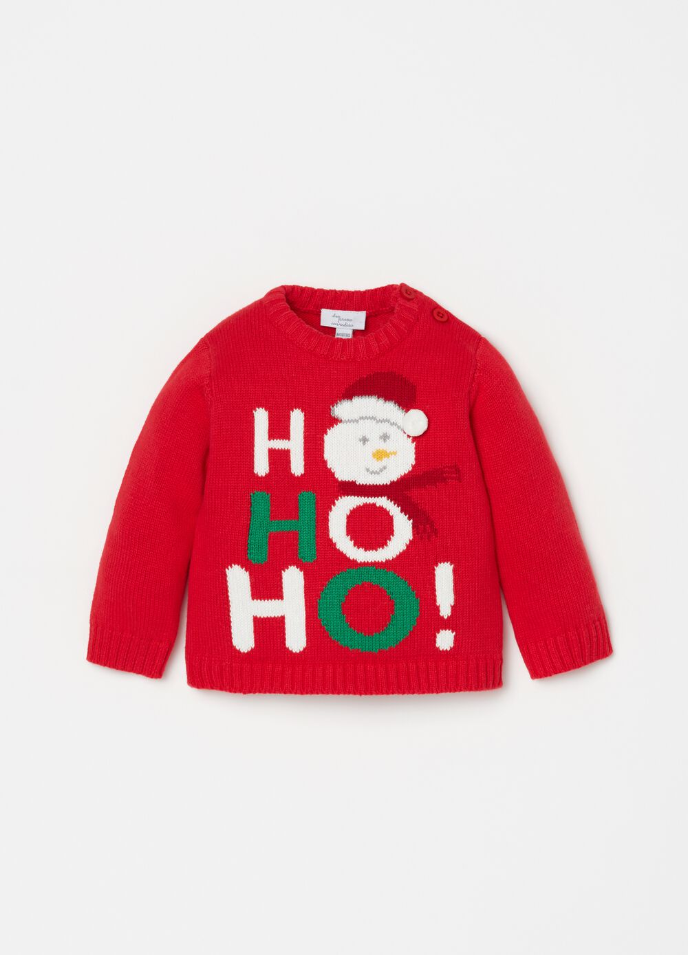100% cotton top with Christmas embroidery