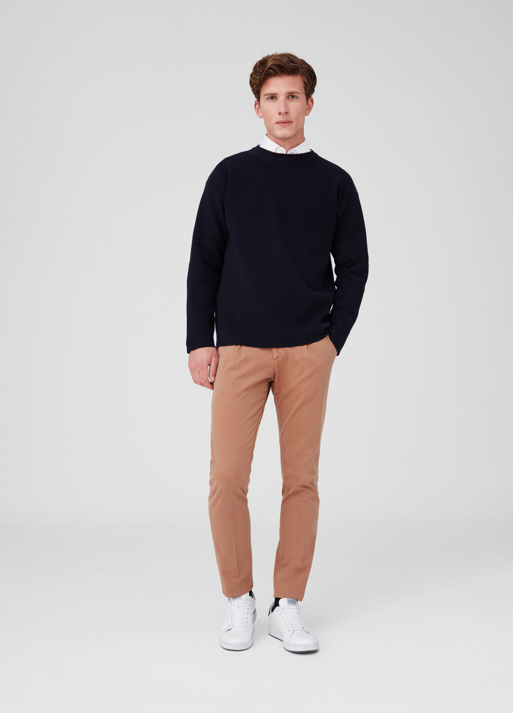 Rumford 100% cotton ribbed pullover