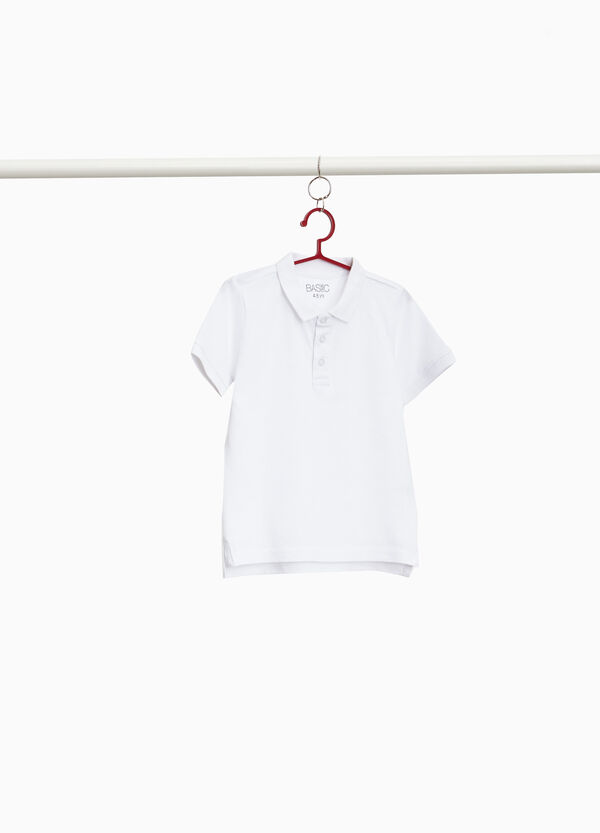 Polo shirt in 100% cotton with slits