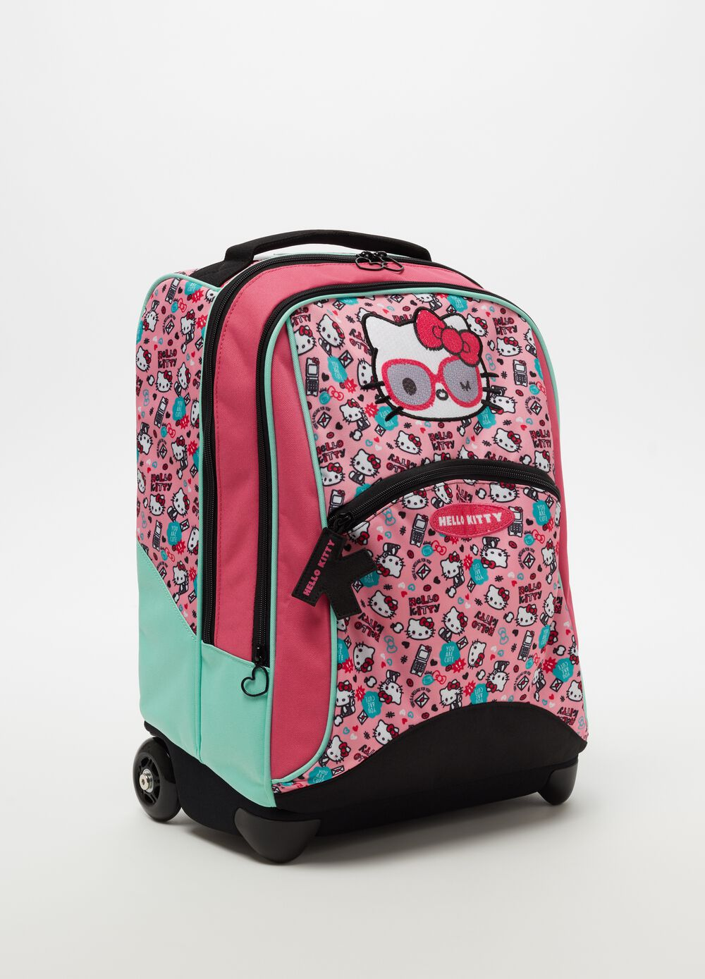 Mochila con ruedas estampado de Hello Kitty