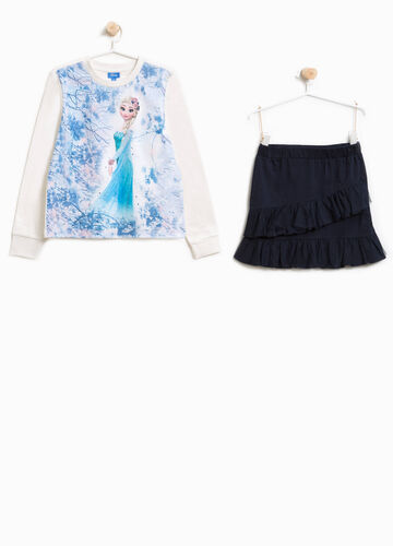 Frozen outfit with diamantés and print