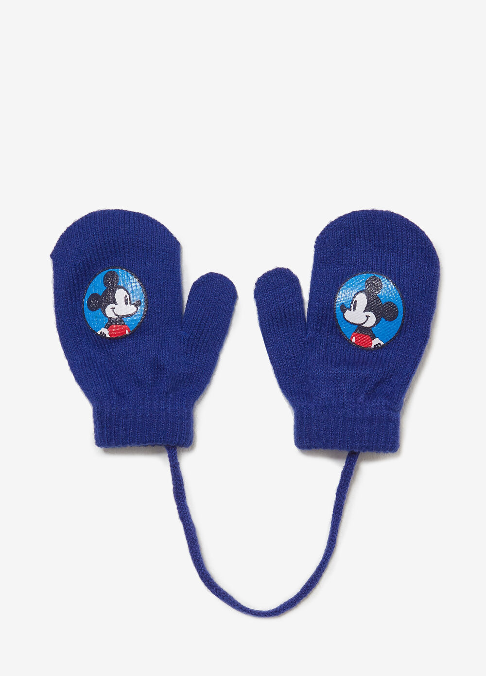 Mittens with Mickey Mouse print