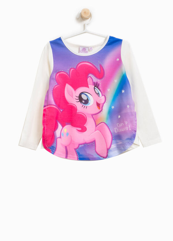 T-shirt stampa My Little Pony con strass