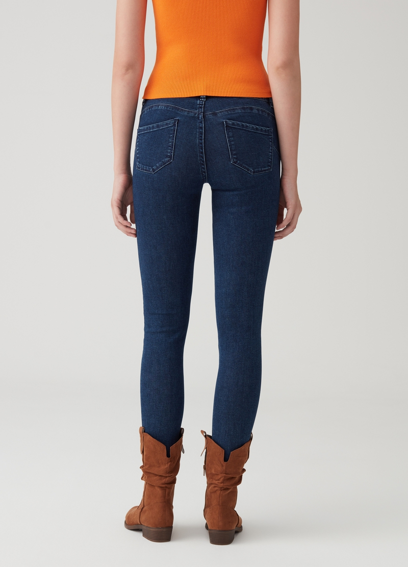 Push-up stretch jeans with five pockets image number null