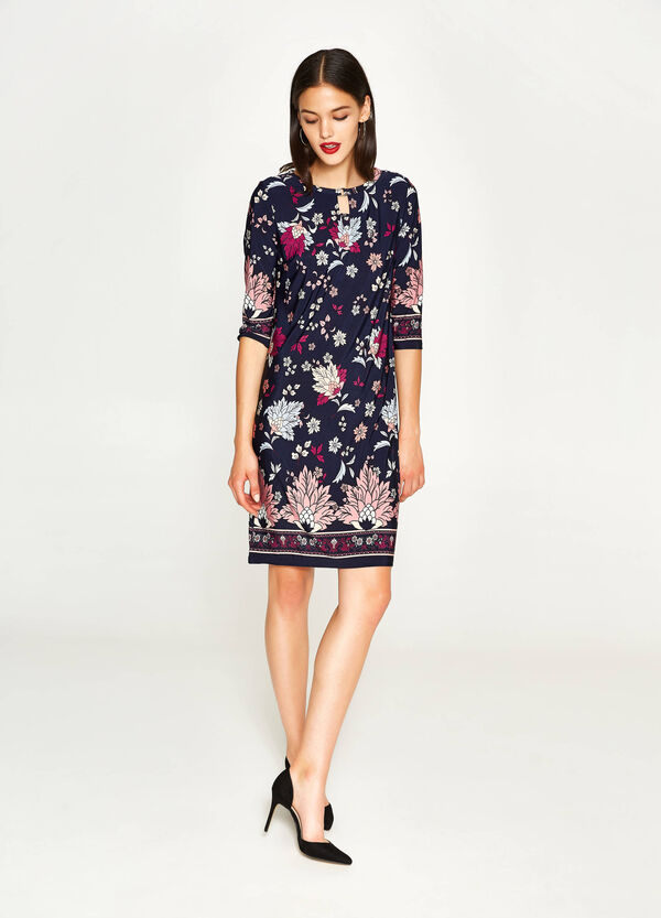Stretch dress with all-over print | OVS
