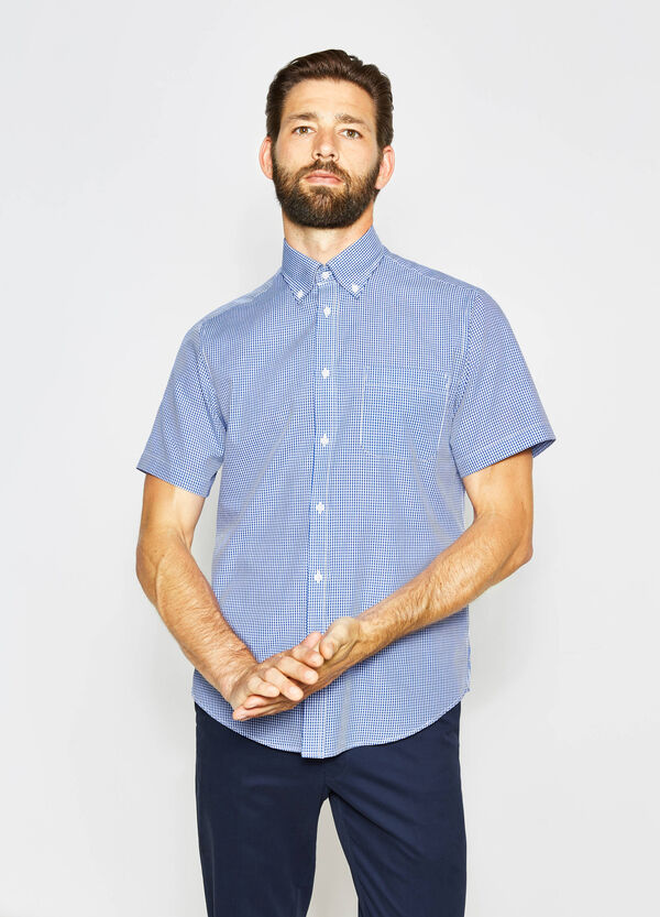 Regular-fit casual checked shirt
