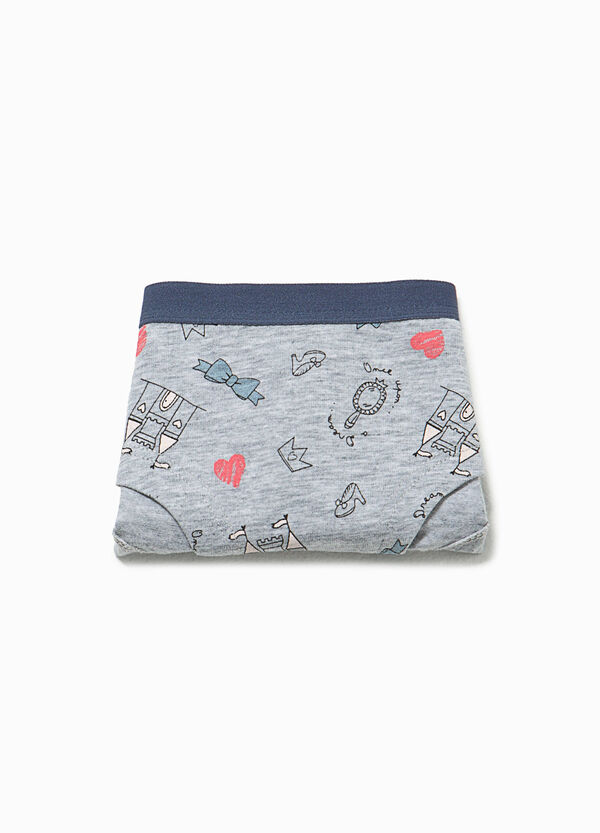 Patterned French knickers in stretch cotton | OVS