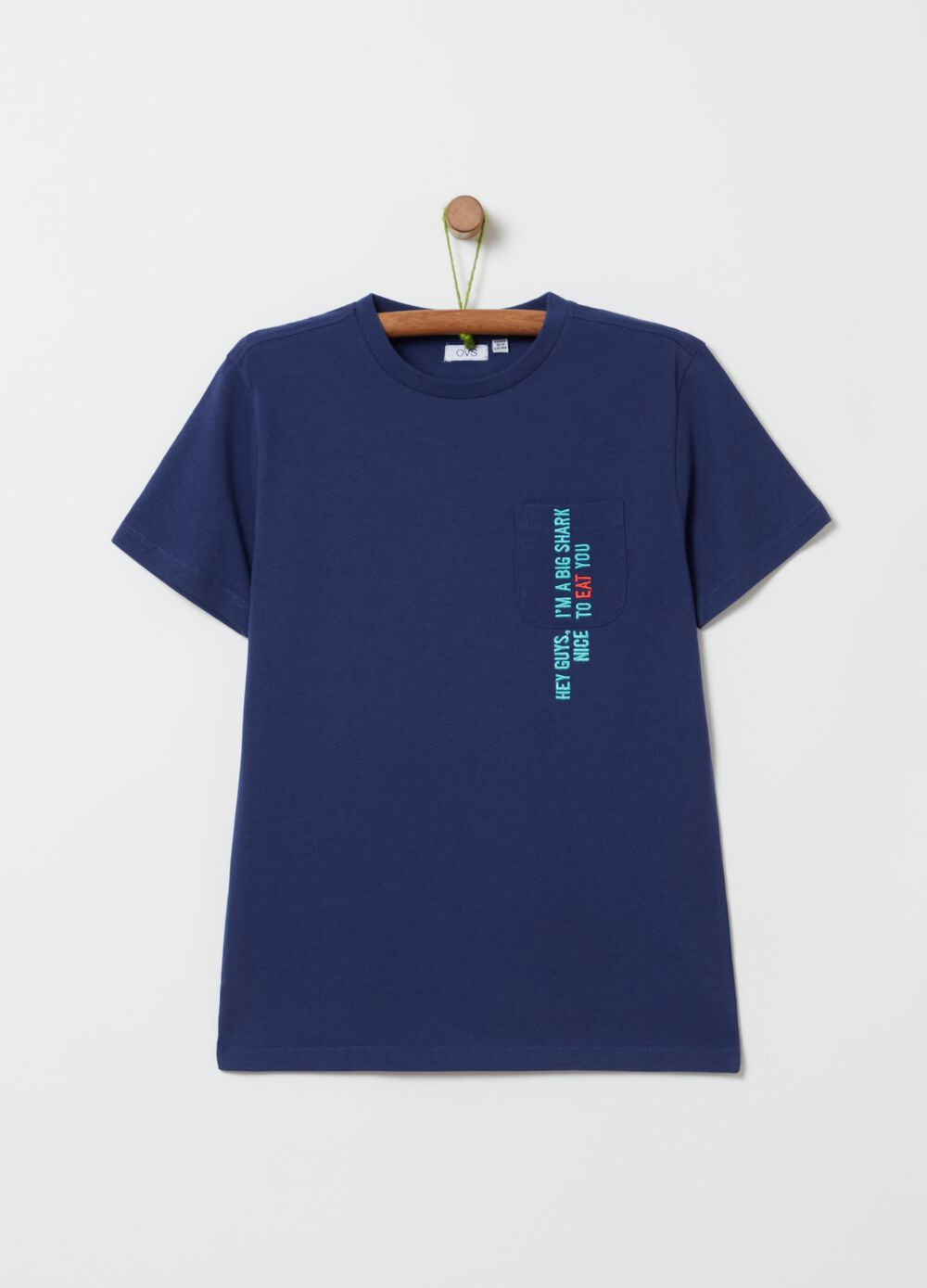 T-shirt in 100% cotton with pocket