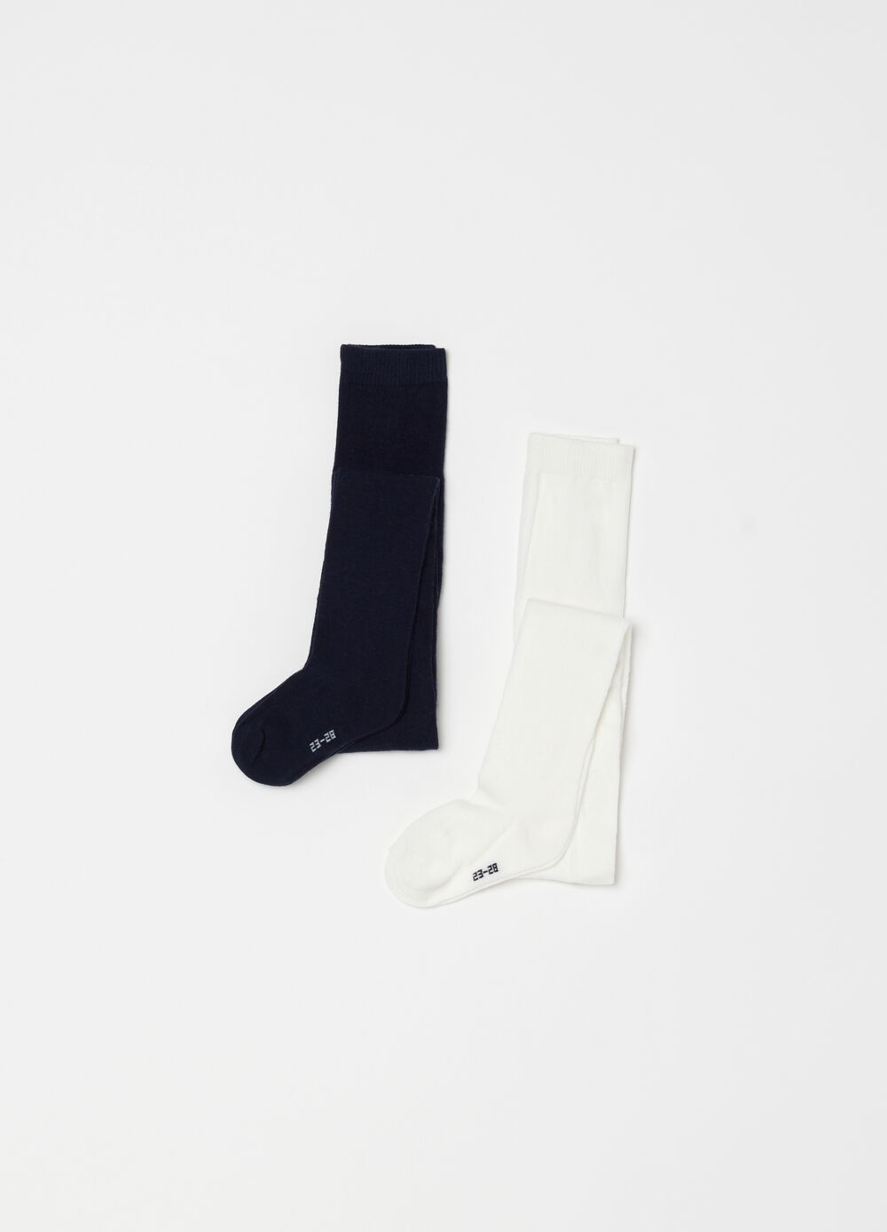 Two-pair pack stretch cotton long socks