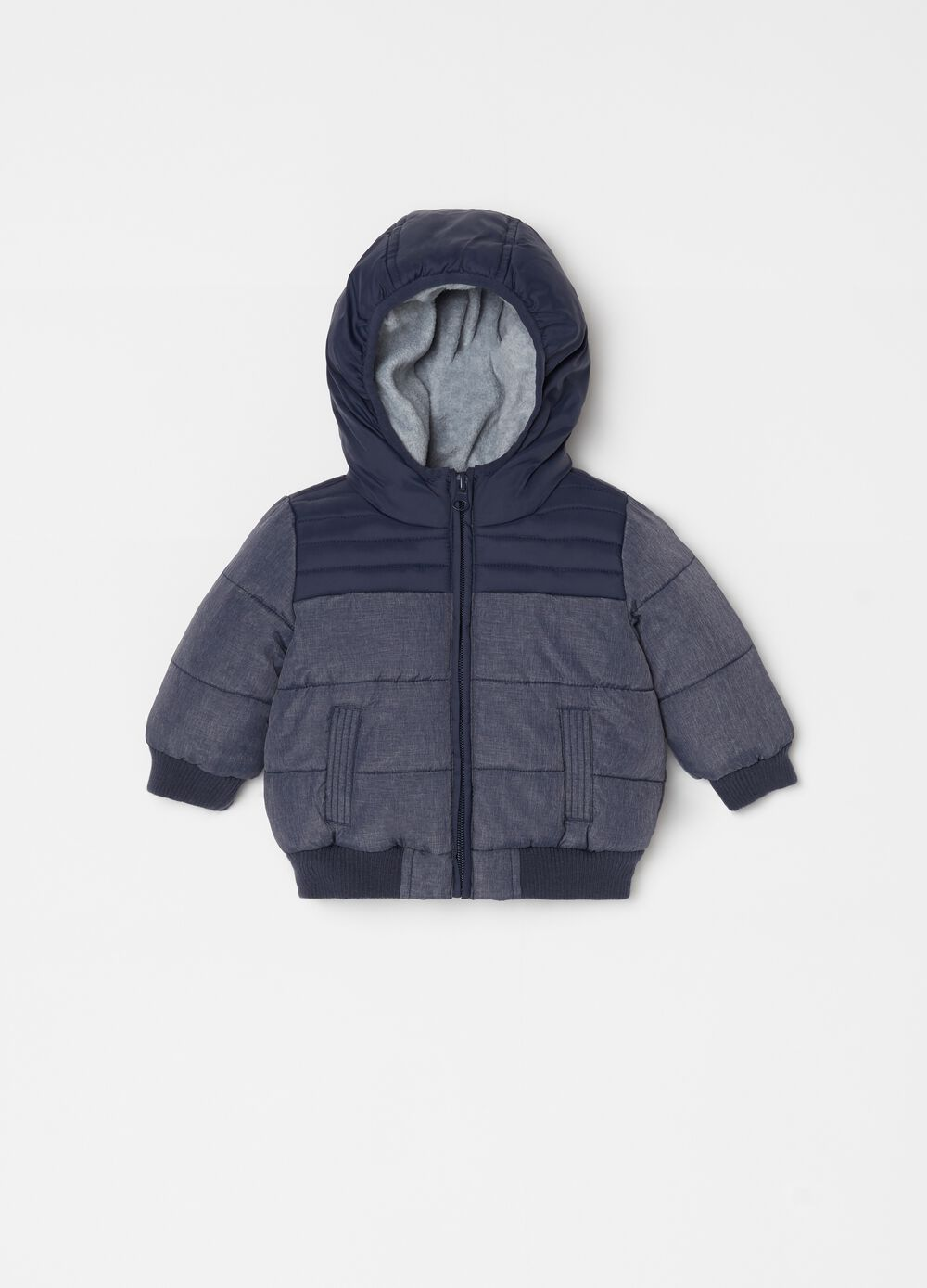Padded jacket with pockets and zip