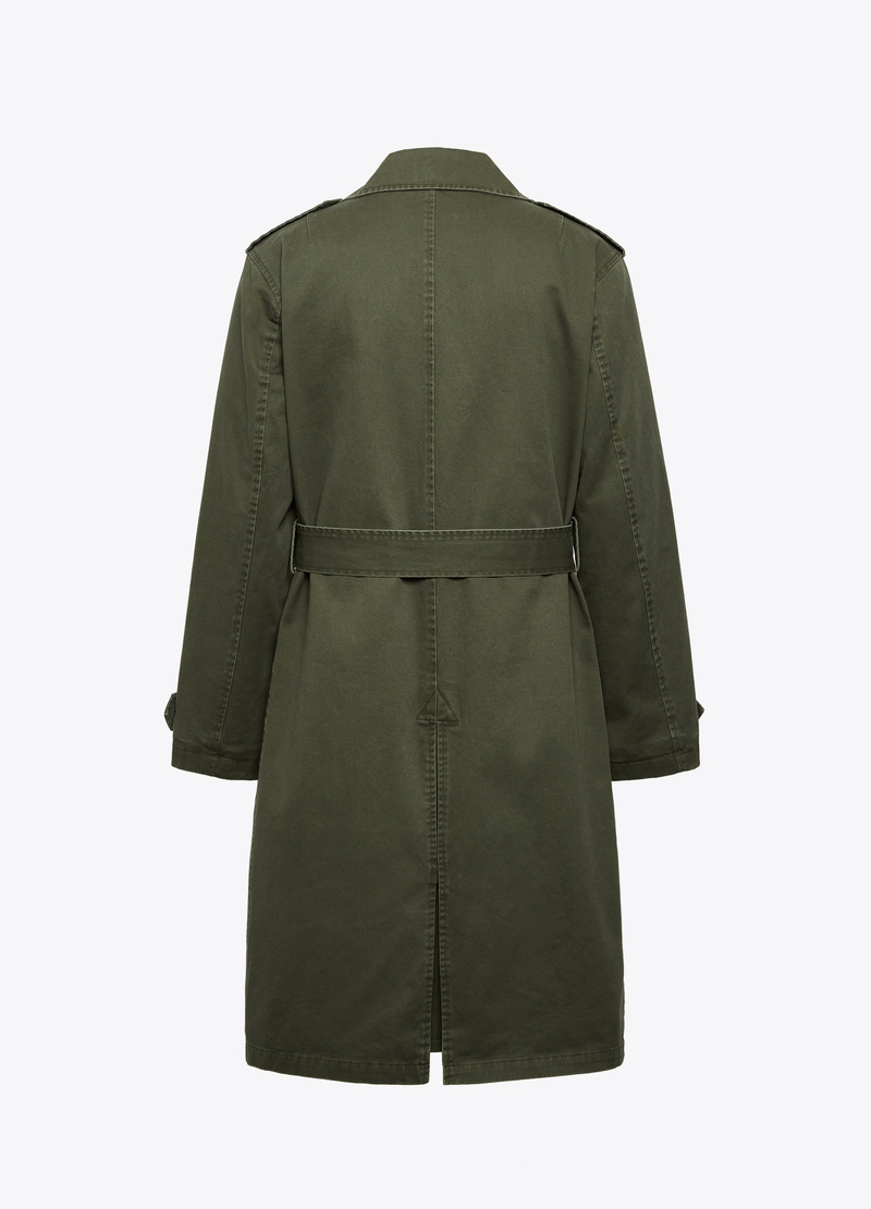 PIOMBO double-breasted trench coat in twill image number null