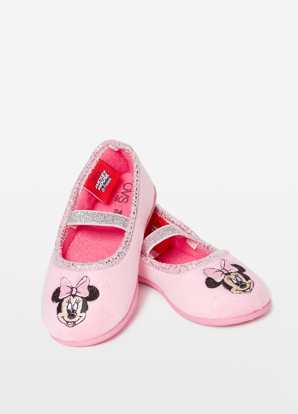 Ballerina slippers with Minnie Mouse patch