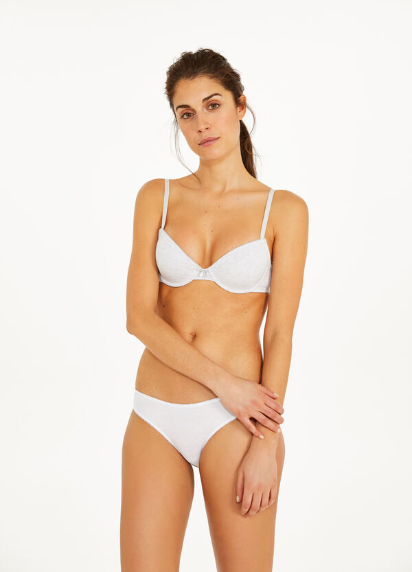 Two-pack stretch cotton bras