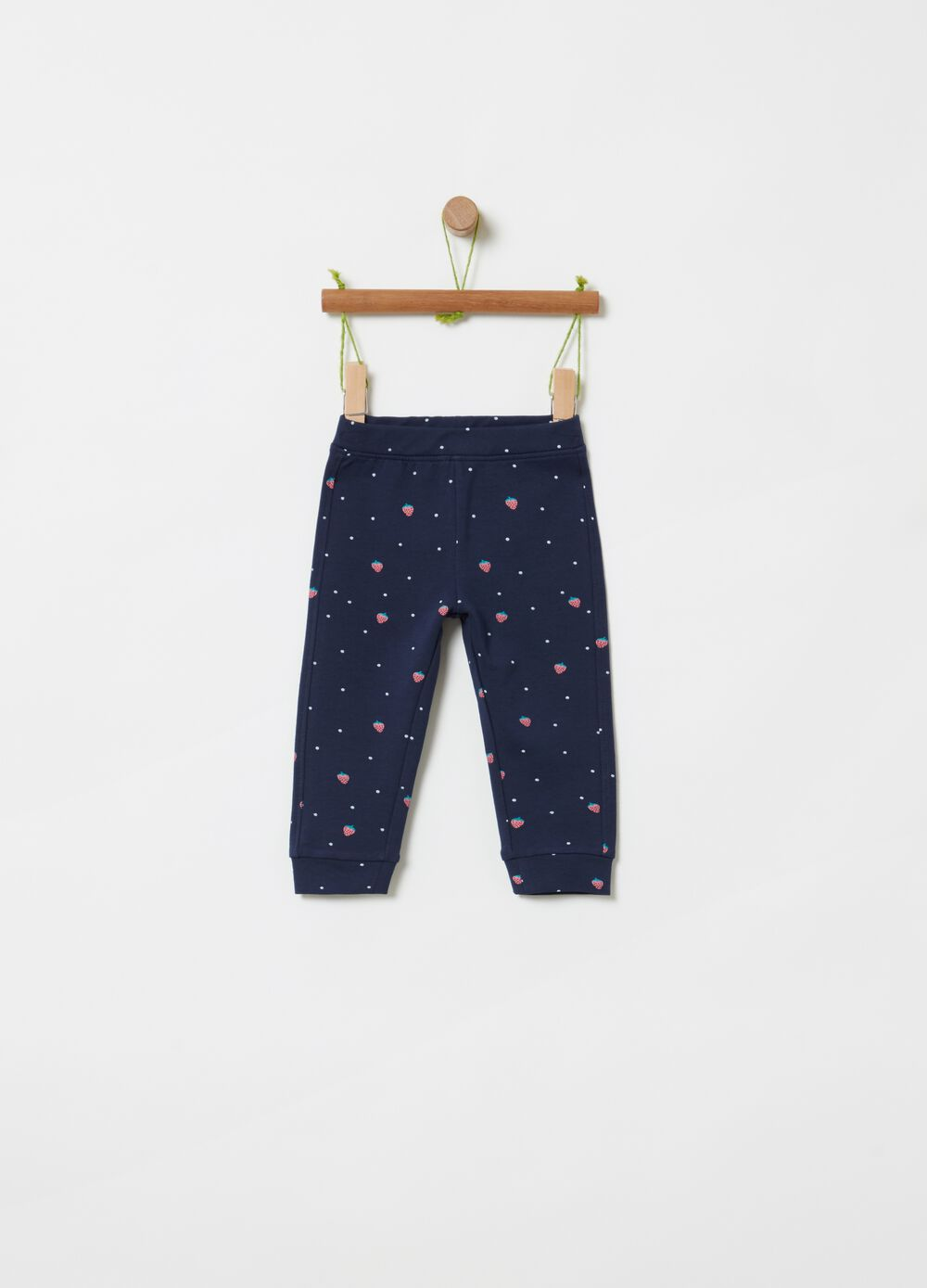 French terry joggers with pattern