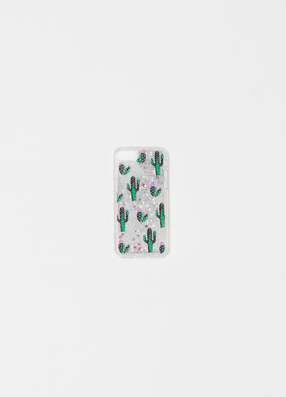 Telephone cover with glitter cactus print