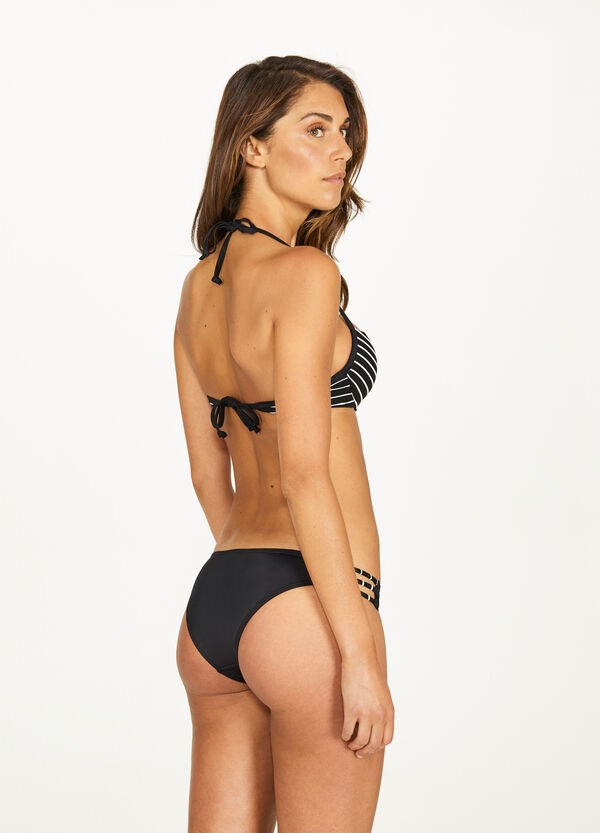 Solid colour bikini bottoms with ties