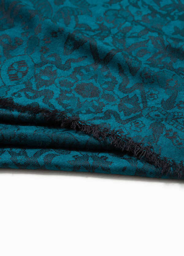 Silk and viscose patterned pashmina | OVS