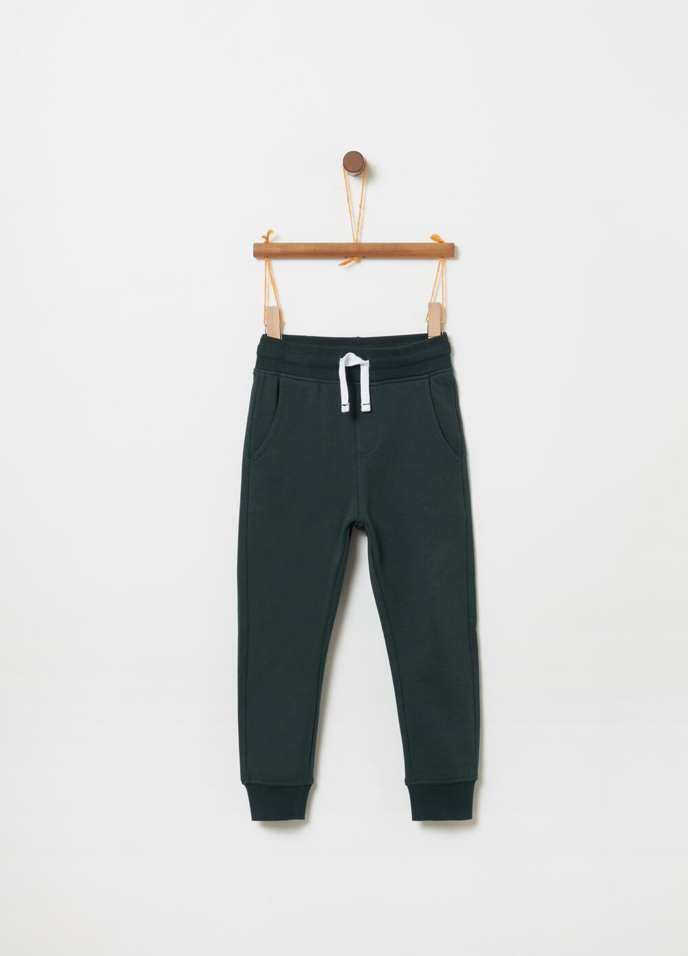 Jogger trousers in 100% organic cotton fleece