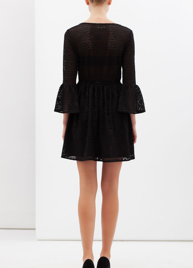 Plain lacework dress