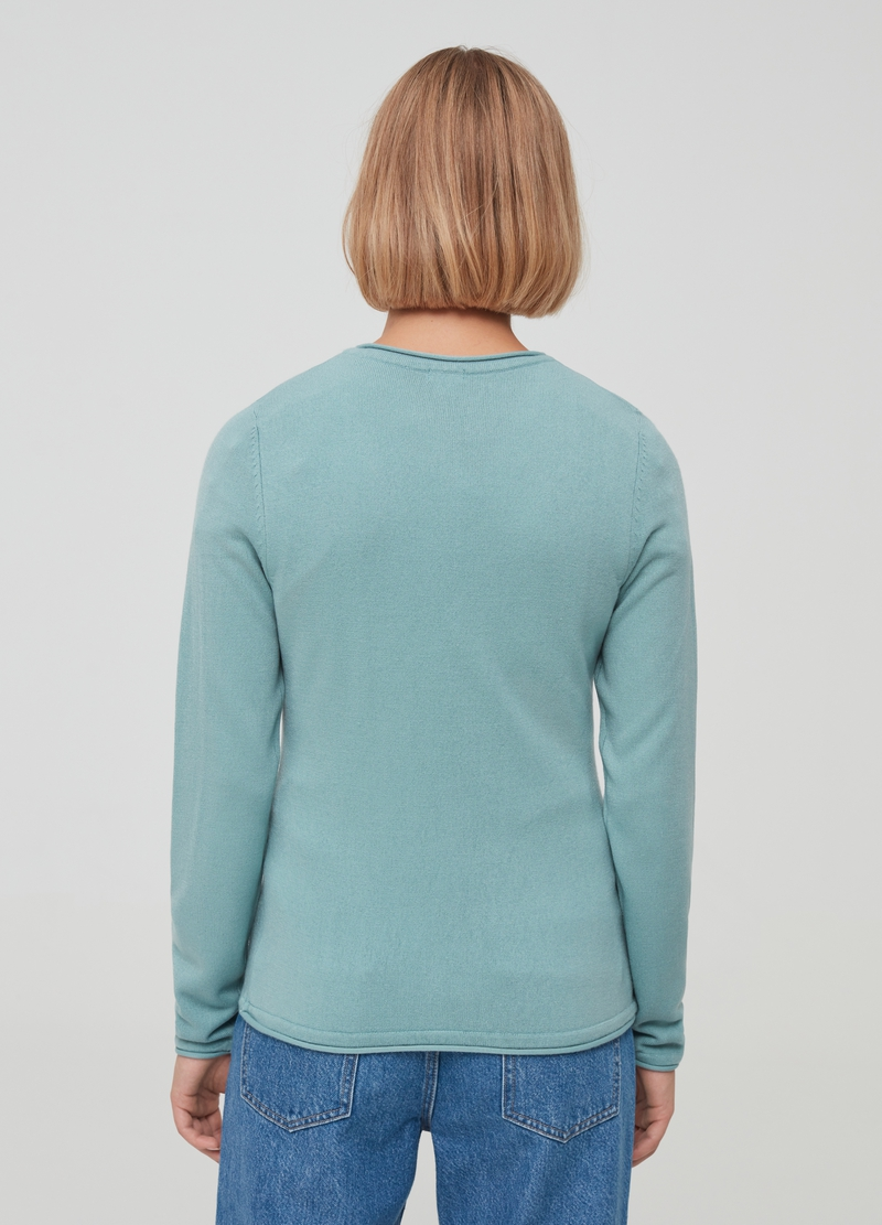 Solid colour cardigan with round neck image number null