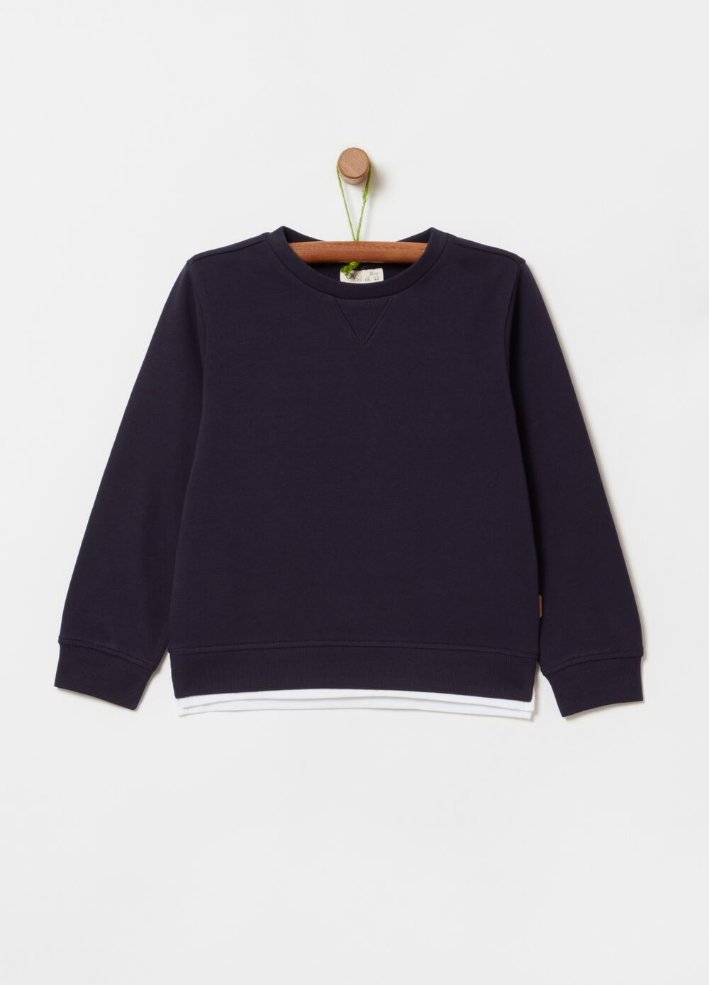 Solid colour 100% cotton sweatshirt