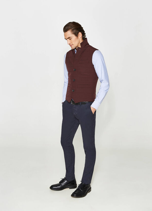 Rumford padded stretch gilet with high collar   OVS